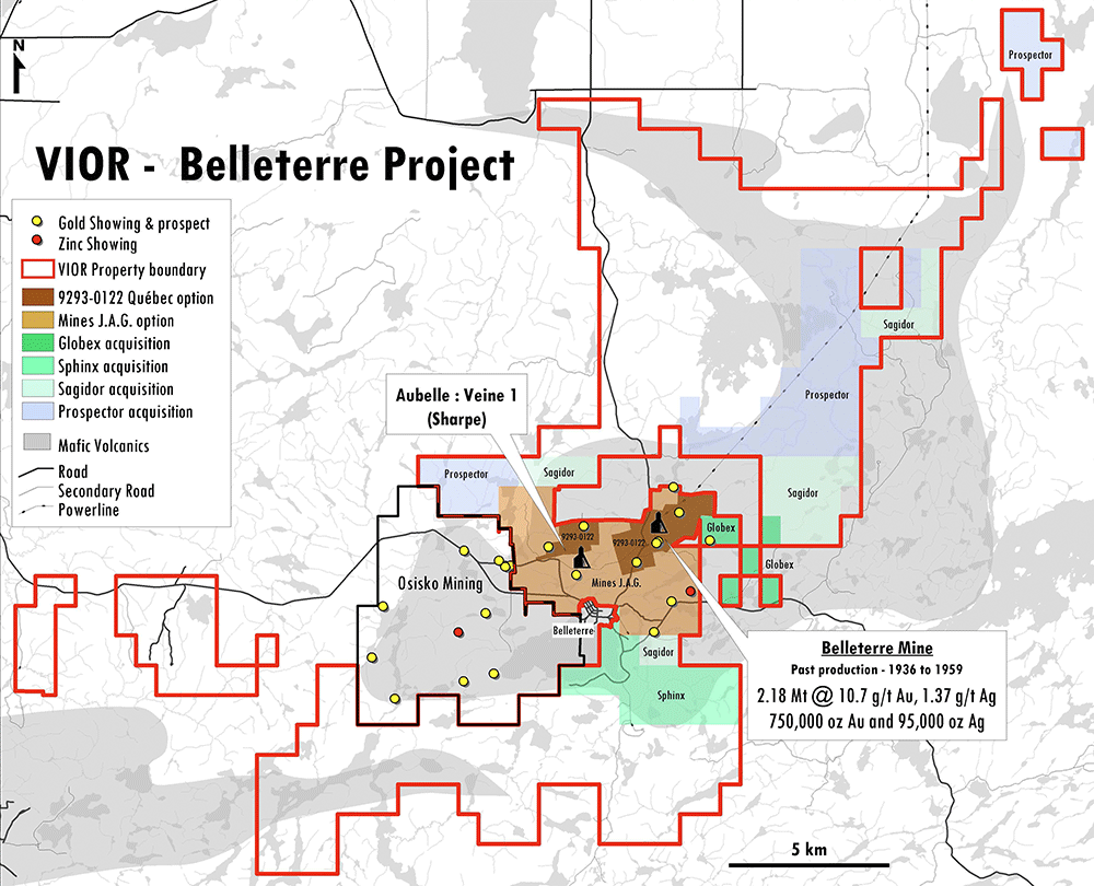 Belleterre Property Map VIOR