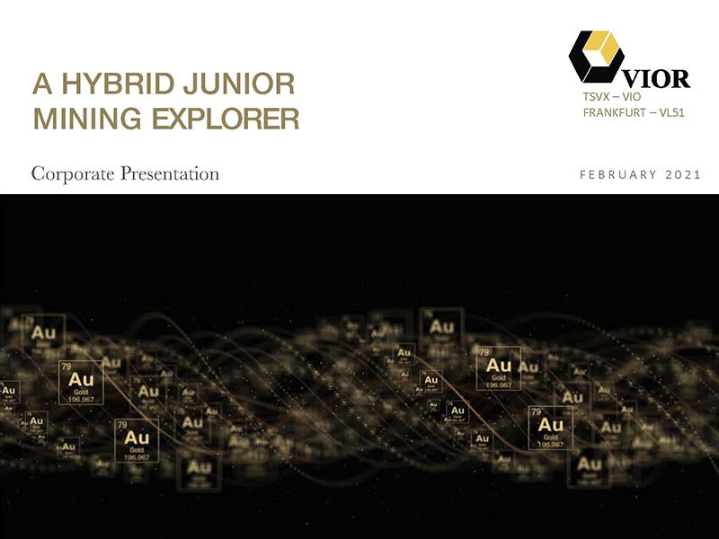 A HYBRID JUNIOR MININ EXPLORER - Corporate Presentation